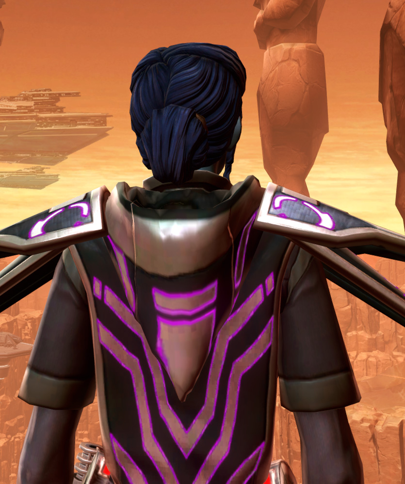 Anointed Zeyd-Cloth Armor Set detailed back view from Star Wars: The Old Republic.