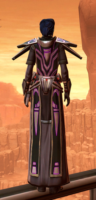 Anointed Zeyd-Cloth Armor Set player-view from Star Wars: The Old Republic.