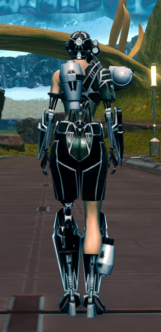 B-200 Cybernetic Armor Set player-view from Star Wars: The Old Republic.