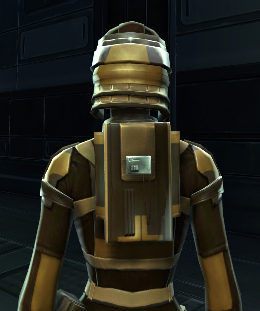 Badlands Explorer Armor Set detailed back view from Star Wars: The Old Republic.