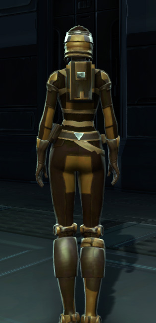 Badlands Explorer Armor Set player-view from Star Wars: The Old Republic.