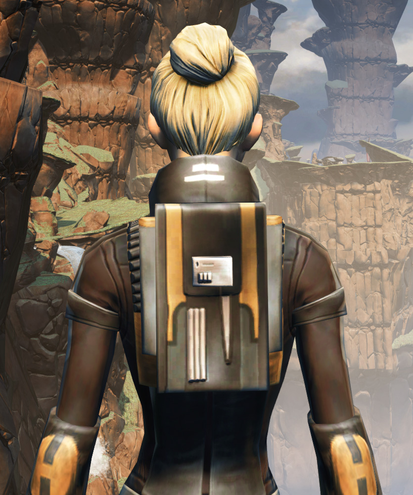 Balmorran Resistance Armor Set detailed back view from Star Wars: The Old Republic.
