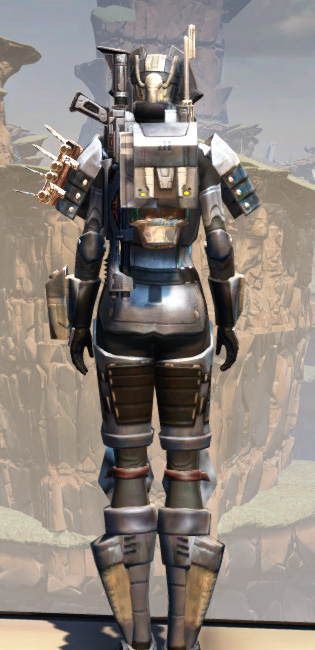 Battlemaster Eliminator Armor Set player-view from Star Wars: The Old Republic.