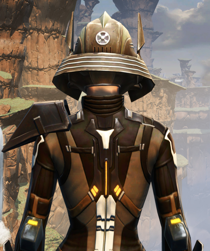 Battlemaster Vindicator Armor Set detailed back view from Star Wars: The Old Republic.