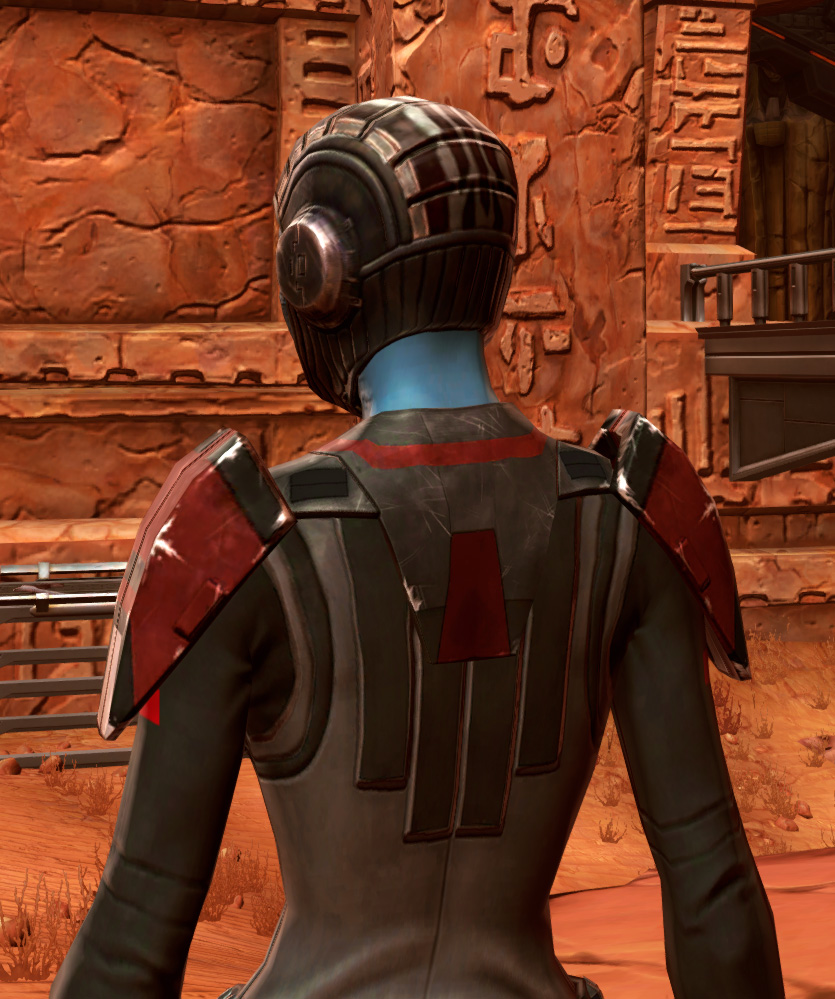 Blade Tyrant Armor Set detailed back view from Star Wars: The Old Republic.