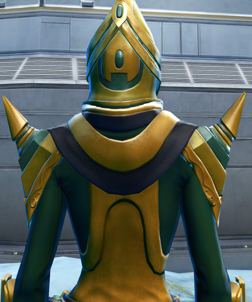 Ceremonial Guard Armor Set detailed back view from Star Wars: The Old Republic.