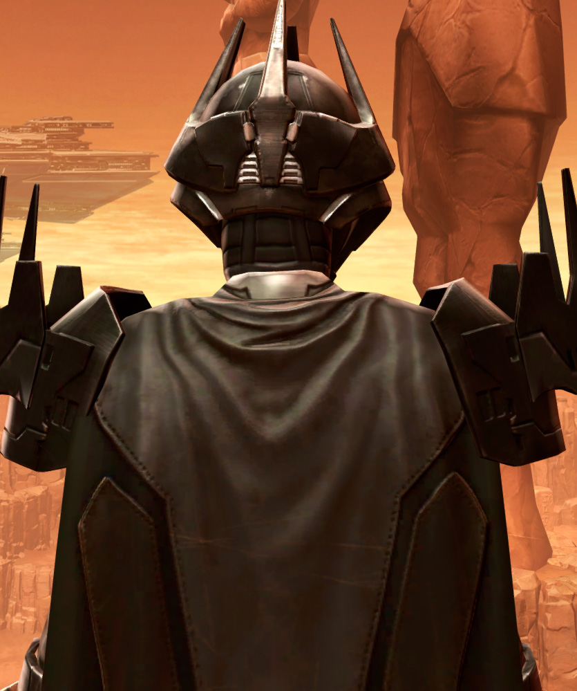 Charged Hypercloth Aegis Armor Set detailed back view from Star Wars: The Old Republic.