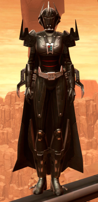 Charged Hypercloth Aegis Armor Set Outfit from Star Wars: The Old Republic.