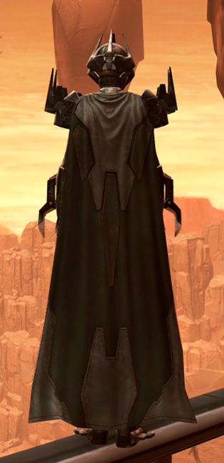 Charged Hypercloth Aegis Armor Set player-view from Star Wars: The Old Republic.