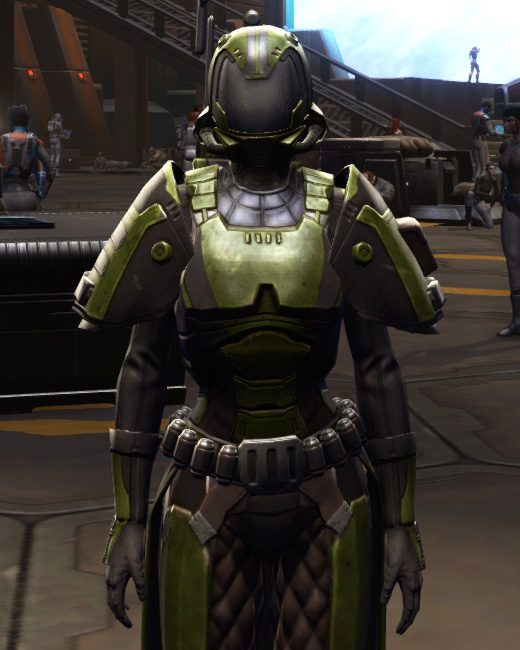 Citadel Boltblaster Armor Set Preview from Star Wars: The Old Republic.