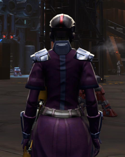 Citadel Bulwark Armor Set Back from Star Wars: The Old Republic.