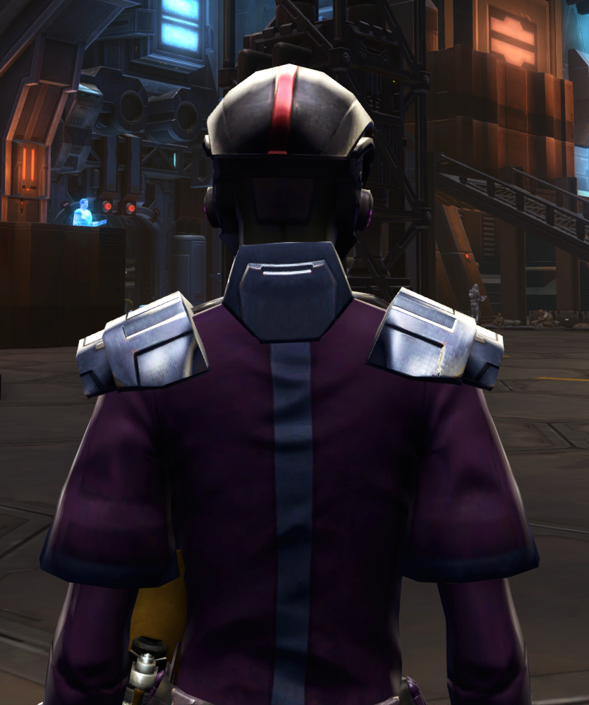 Citadel Bulwark Armor Set detailed back view from Star Wars: The Old Republic.