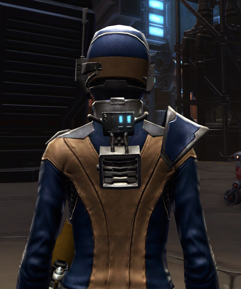 Citadel Mender Armor Set detailed back view from Star Wars: The Old Republic.