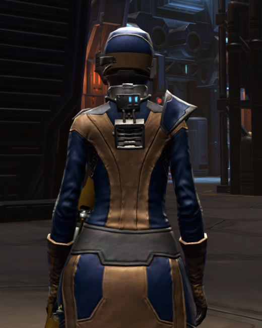 Citadel Mender Armor Set Back from Star Wars: The Old Republic.