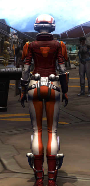 Citadel Targeter Armor Set player-view from Star Wars: The Old Republic.