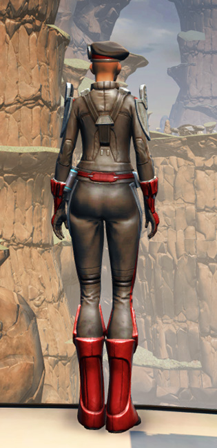 Confiscated Mercenary Armor Set player-view from Star Wars: The Old Republic.