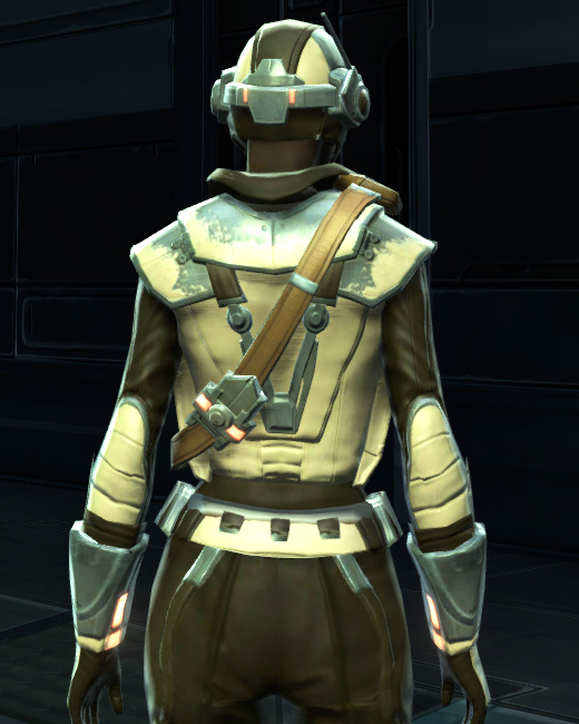 Contraband Runner Armor Set Back from Star Wars: The Old Republic.