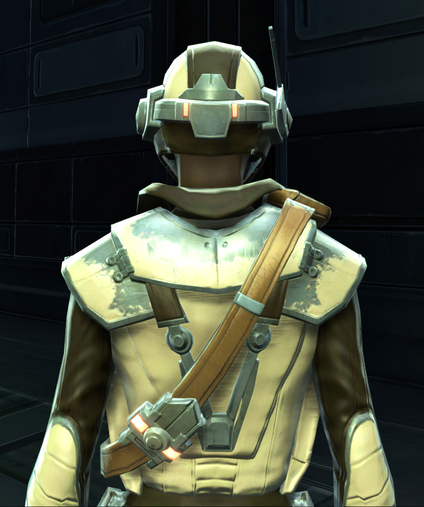 Contraband Runner Armor Set detailed back view from Star Wars: The Old Republic.