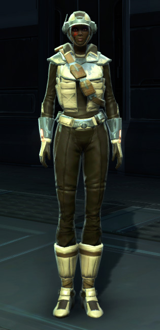 Contraband Runner Armor Set Outfit from Star Wars: The Old Republic.