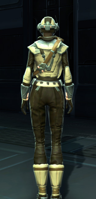 Contraband Runner Armor Set player-view from Star Wars: The Old Republic.