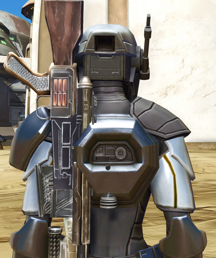 Cyber Agent Armor Set detailed back view from Star Wars: The Old Republic.