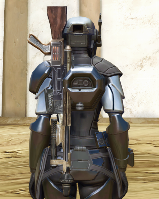 Cyber Agent Armor Set Back from Star Wars: The Old Republic.