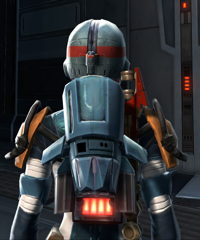 Defiant Asylum MK-26 (Armormech) (Imperial) Armor Set detailed back view from Star Wars: The Old Republic.