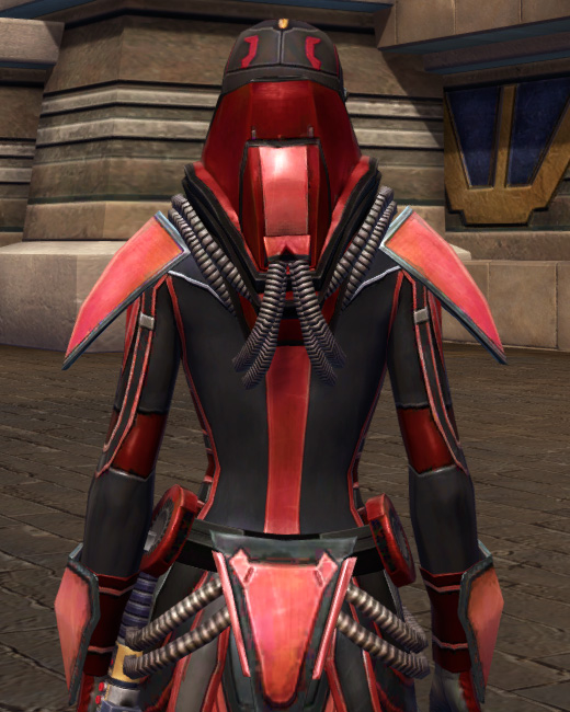 Dire Retaliation Armor Set Back from Star Wars: The Old Republic.