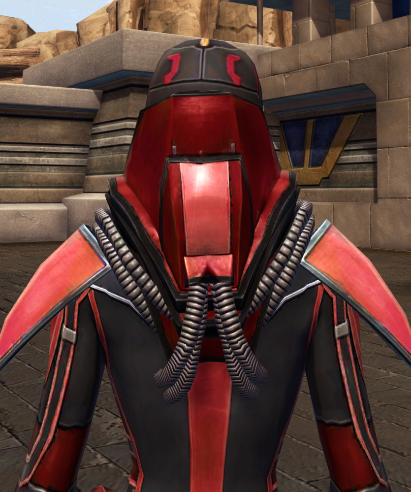 Dire Retaliation Armor Set detailed back view from Star Wars: The Old Republic.