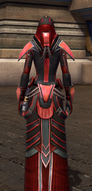 Dire Retaliation Armor Set player-view from Star Wars: The Old Republic.