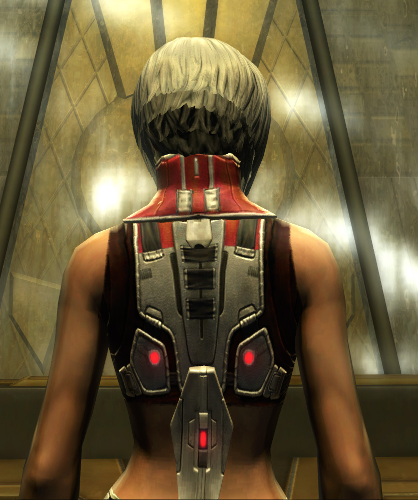 Eternal Battler Force-Lord Armor Set detailed back view from Star Wars: The Old Republic.