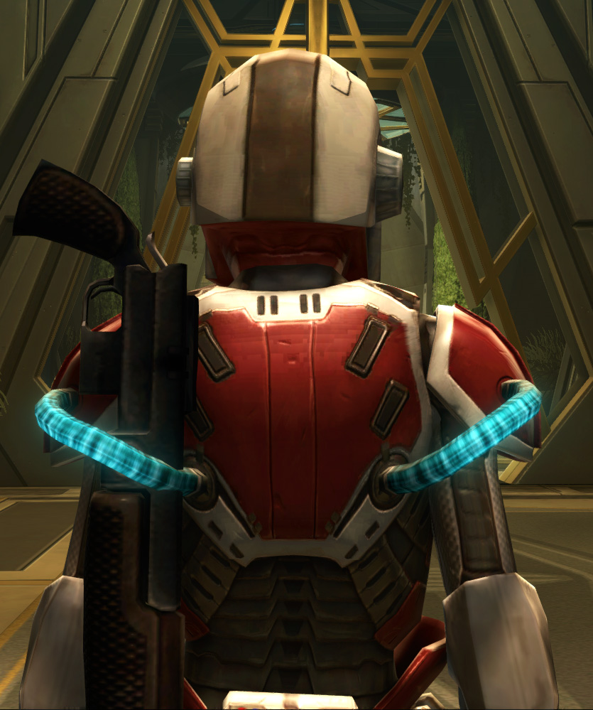 Eternal Conqueror Med-Tech Armor Set detailed back view from Star Wars: The Old Republic.