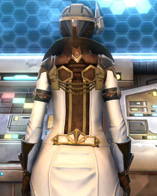 Eternal Commander MK-15 Field tech Armor Set Back from Star Wars: The Old Republic.