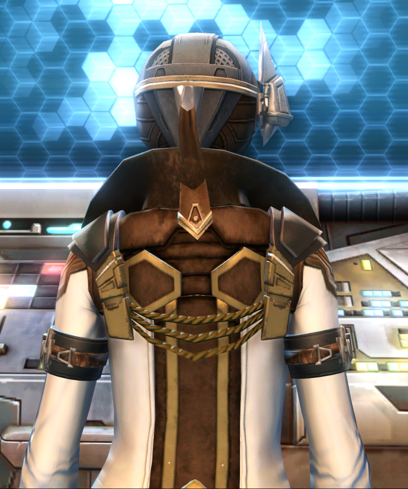 Eternal Commander MK-15 Field tech Armor Set detailed back view from Star Wars: The Old Republic.