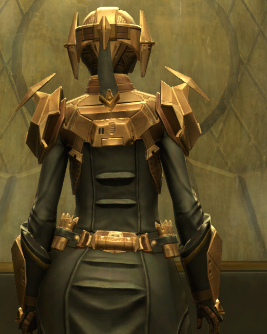 Eternal Commander MK-3 Weaponmaster Armor Set Back from Star Wars: The Old Republic.