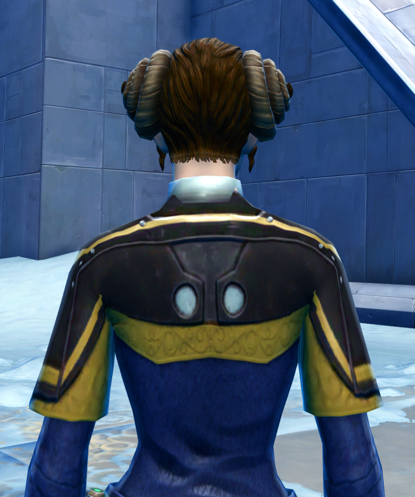 Formal Tuxedo Armor Set detailed back view from Star Wars: The Old Republic.