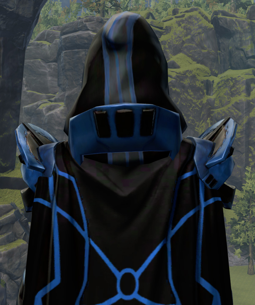 Fortified Defender Armor Set detailed back view from Star Wars: The Old Republic.