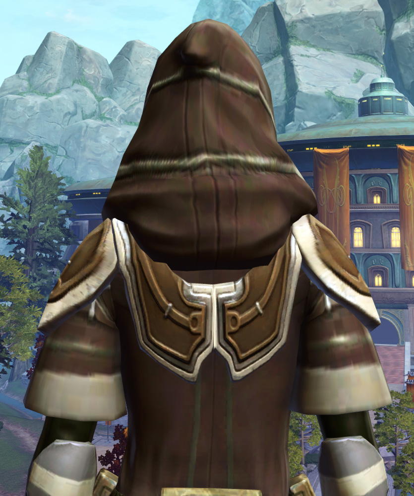 Fortified Electrum Armor Set detailed back view from Star Wars: The Old Republic.