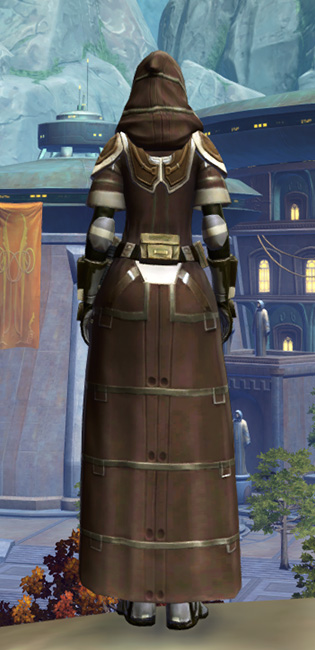 Fortified Electrum Armor Set player-view from Star Wars: The Old Republic.