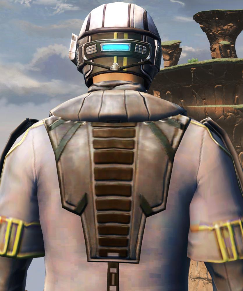 Fortified Lacqerous Armor Set detailed back view from Star Wars: The Old Republic.