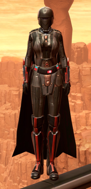 Fortified Phobium Armor Set Outfit from Star Wars: The Old Republic.