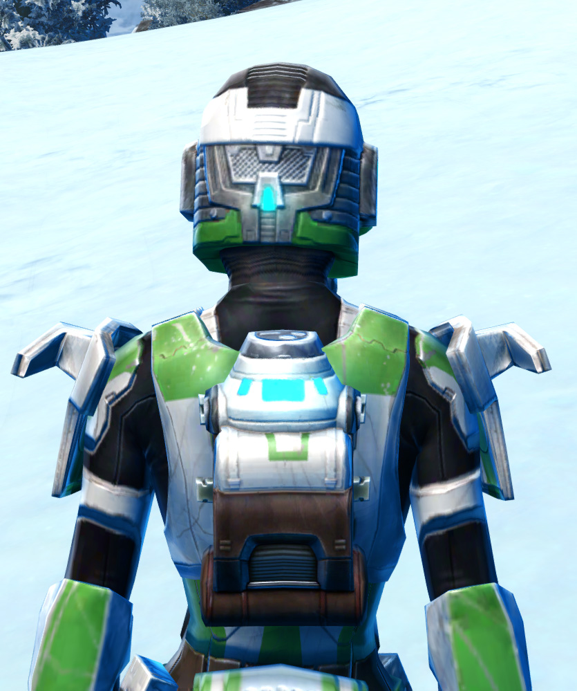 Forward Recon Armor Set detailed back view from Star Wars: The Old Republic.