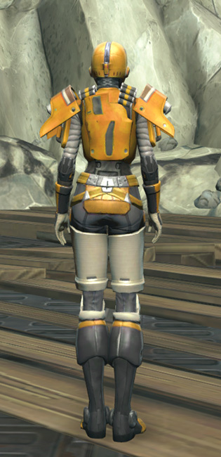 Frogdog Huttball Home Uniform Armor Set player-view from Star Wars: The Old Republic.