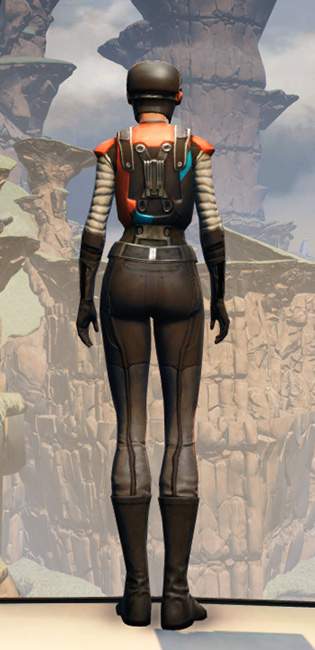 GSI Infiltration Armor Set player-view from Star Wars: The Old Republic.