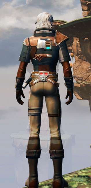 Gunslinger Armor Set player-view from Star Wars: The Old Republic.