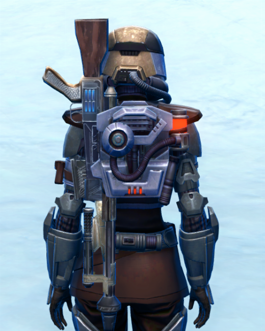 Holoshield Trooper Armor Set Back from Star Wars: The Old Republic.