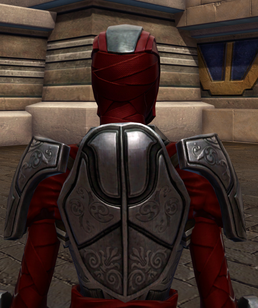 Hunter Killer Armor Set detailed back view from Star Wars: The Old Republic.
