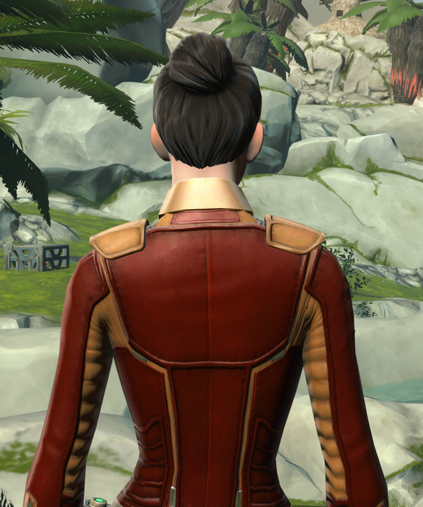 Hutt Cartel Corporate Shirt Armor Set detailed back view from Star Wars: The Old Republic.