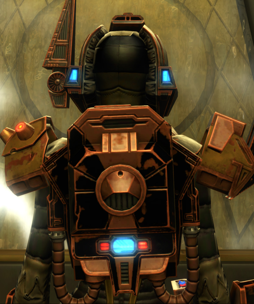 Iokath MK-5 Supercommando Armor Set detailed back view from Star Wars: The Old Republic.