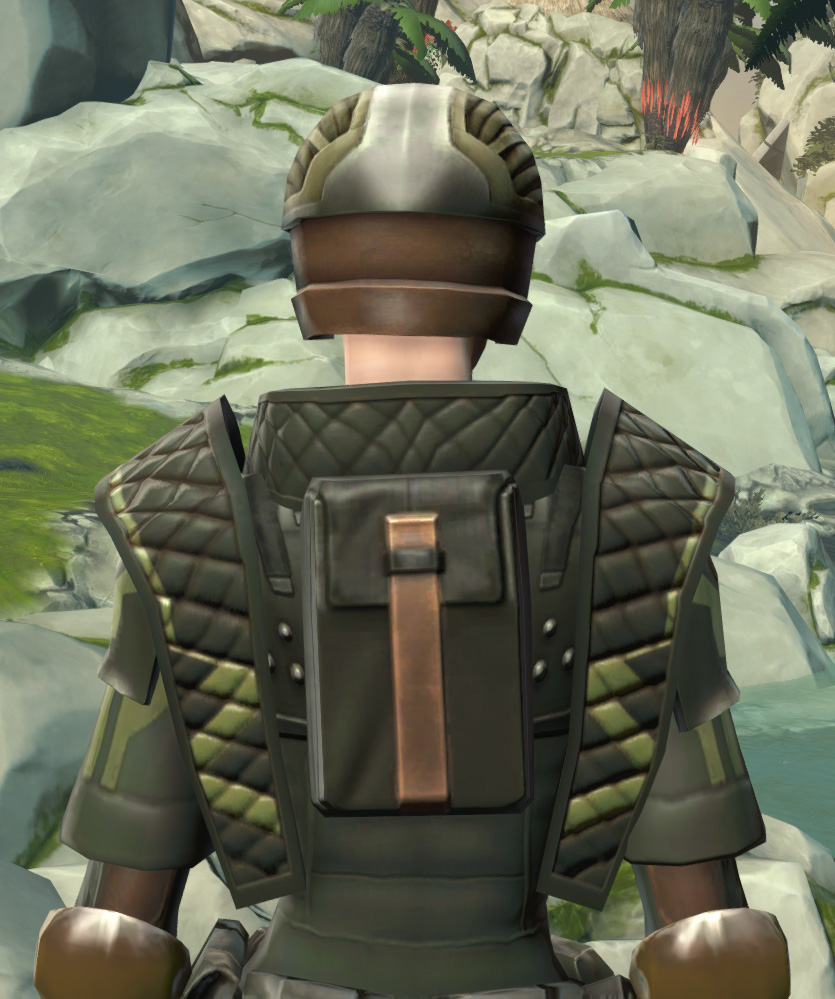 Jungle Ambusher Armor Set detailed back view from Star Wars: The Old Republic.